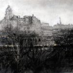 Overlooking Princes St Edinburgh 13.5 x 18.5 ins
